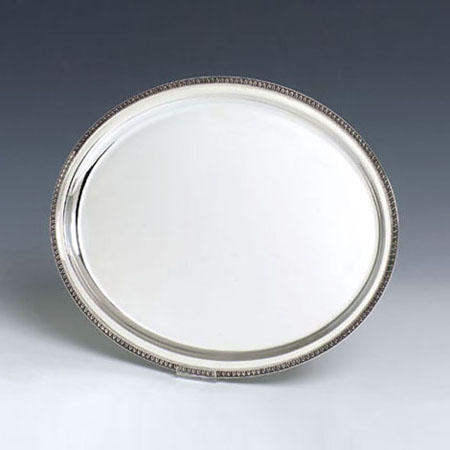 Impero Oval Silver Tray