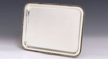 Impero Large Silver Tray