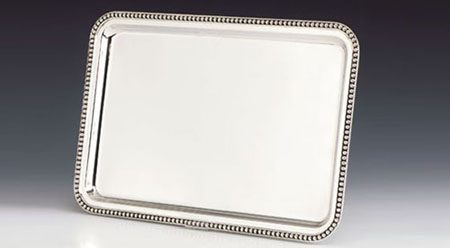 Pearls Silver Tray