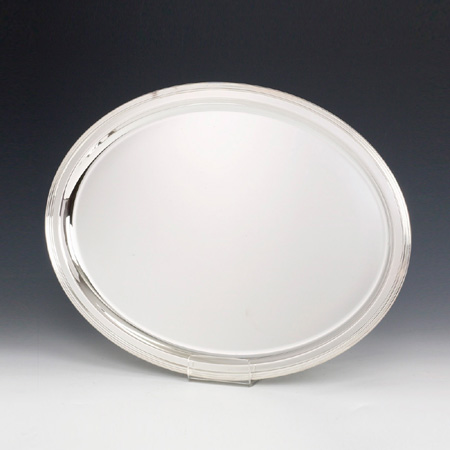 Oval Inglese Silver Tray
