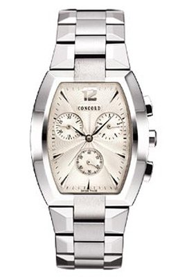 Concord La Scala Mens Chronograph Stainless Steel Watch