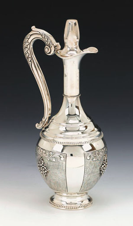 Italian  Sterling Silver Bottle