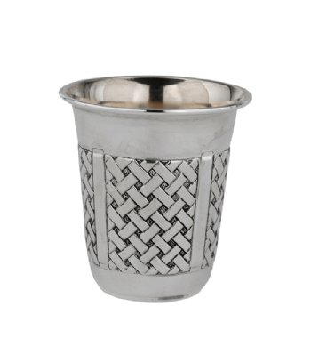 Hadad Braided Sterling Silver Liquor Cup