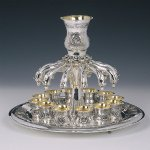 Shell 12 Cups Sterling Silver Wine Fountain