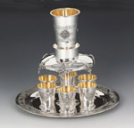 Pas Prachim 6 Cups Sterling Silver Wine Fountain