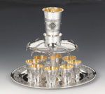 Pas Prachim 8 Cups Sterling Silver Wine Fountain