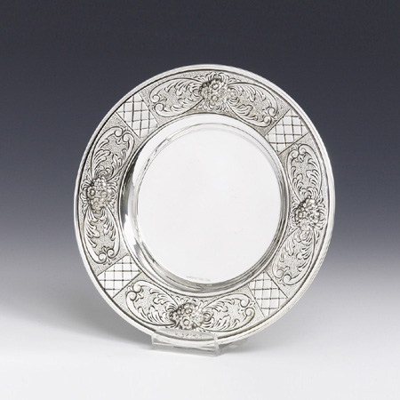 Grada Sterling Silver Kiddush Coaster