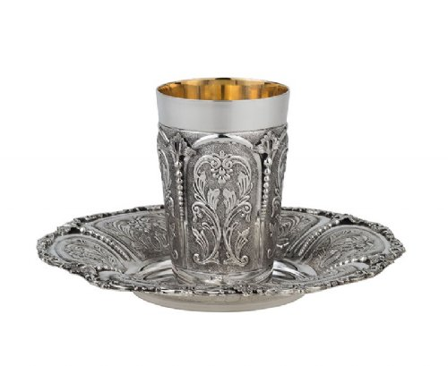 Imperium Gates Sterling Silver Kiddush Cup Set