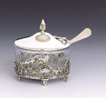 Crown Honey & Sugar Sterling Silver Dish