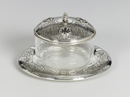 Shell Silver Honey & Sugar Dish
