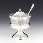 Shell Siluet Silver Honey & Sugar Dish
