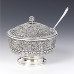 Perach Bolet Silver Honey & Sugar Dish