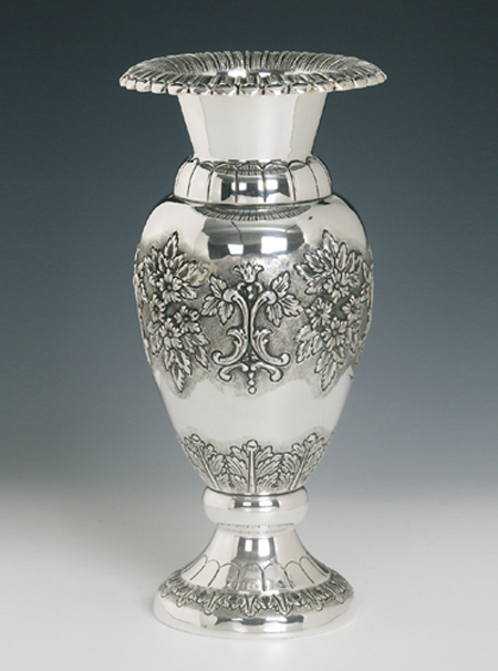 Flower Sterling Silver Vase The Chassans Place