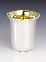 Hazorfim Shiny Sterling Silver Kiddush Cup