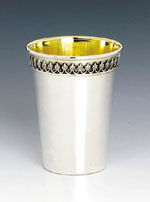 Filigree Light Sterling Silver Kiddush Cup