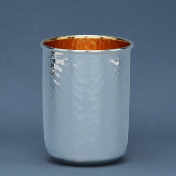 Hammering Sterling Silver Kiddush Cup