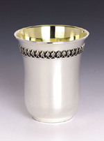 Filigree Sterling Silver Kiddush Cup