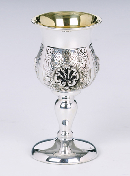 Shell Sterling Silver Liqueur Cup
