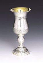 Leaves Sterling Silver Eliyahu Cup