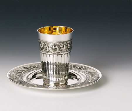 Puema Sterling Silver Kiddush Cup Set