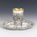 Hazorfim Margarita Heavy Sterling Silver Kiddush Cup Set