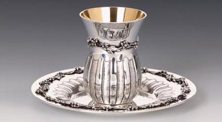 Hazorfim Picolo Sterling Silver Kiddush Cup Set