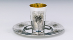 Shell Sterling Silver Kiddush Cup Set