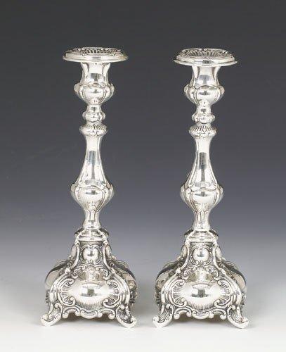 Hazorfim Ben Yehuda Sterling Silver Candlesticks 8