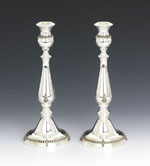 Hatzorfim Filigree Sterling Silver Candlesticks - 11""