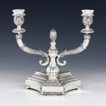 Sterling Silver Trio Oil Candelabra