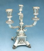 Sterling Silver Torino Candelabra 3 Lights