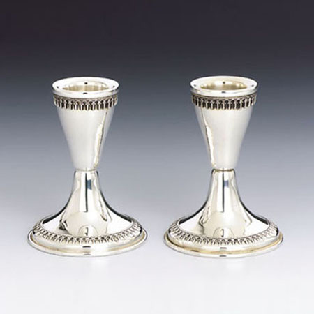 Filigree Silver Candlesticks