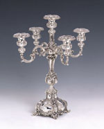 Sterling Silver Ben Yehuda Small Candleabra 6 Lights