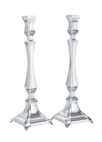 Paris Sterling Silver Candlesticks - 13.5""