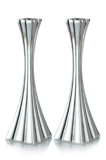 Galil Sterling Silver Candlesticks - 10""