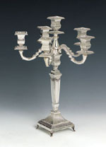 Sterling Silver Rubin Candelabra 6 Lights
