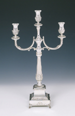 Sterling Silver Roma Small Candelabra No Casting 3 Light