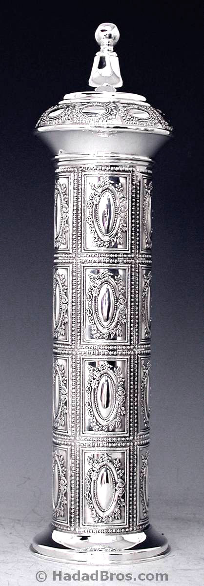 Sterling Silver Megillah Case Chocolate