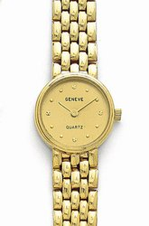 Solid 14K Gold Women's Elegant Watch by Euro Geneve