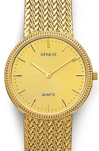 Euro Geneve 14K Yellow Gold Round Mens Watch