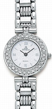 14K White Gold Ladies Diamond Watch - Euro Geneve