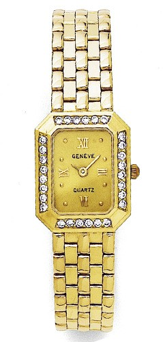 Euro Geneve Watch - Solid 14kt Gold Women's Diamond Watch