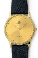 14K Gold Watch with Leather Band - Euro Geneve
