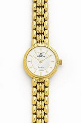 Round Ladies 14k Euro Geneve Gold Watch