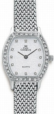White Gold Diamond Watch - 14k from Euro Geneve, with .45 ct Diamonds