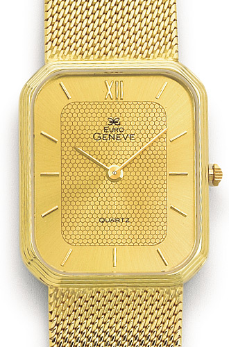 14k Yellow Gold Mens Watch Geneve Euro The Chassan S Place