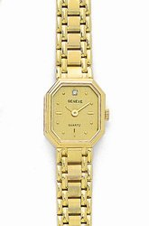 Octagon 14K Yellow Gold  Women's Euro Geneve Watch