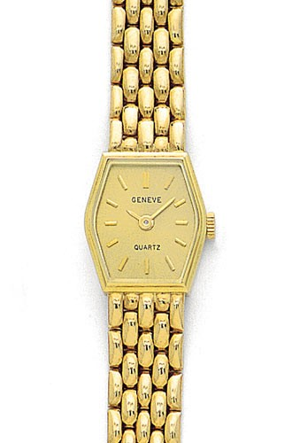 Ladies Gold Watches - Euro Geneve Watch Solid 14 Yellow Gold