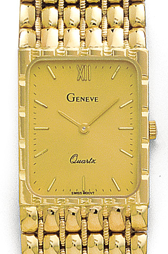 14K Yellow Gold Mens Watch - Geneve