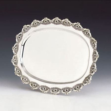 Zroa Perach Silver Tray The Chassan S Place